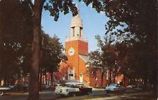 Mason City Iowa~First Methodist Church~Nice 1950s Cars~1957 LL Cook Postcard