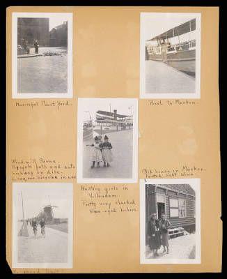 Althea Hurst scrapbook, 1938. Marken Island and Volendam (Netherlands)
