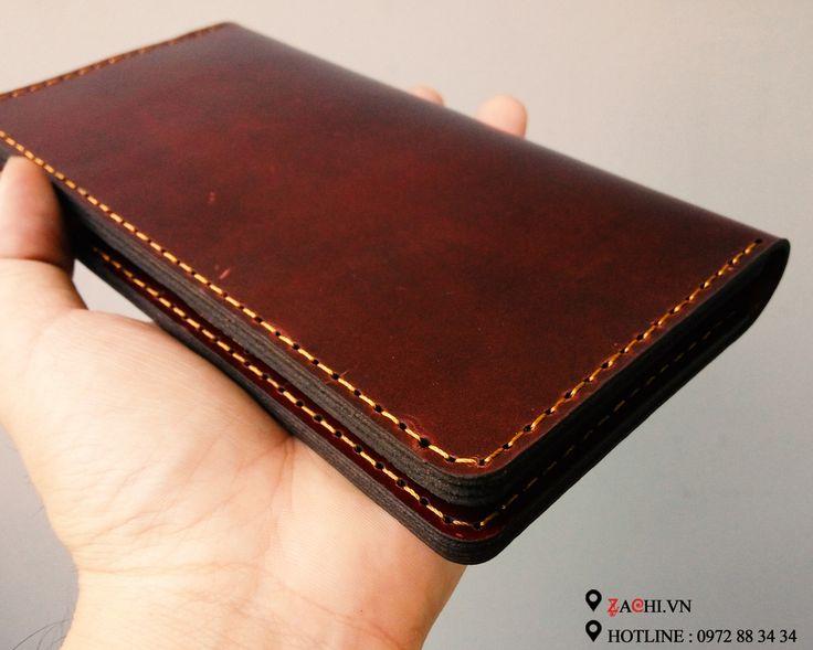 VN04CR - Ví nam mẫu dài handmade da thật cao cấp – Zachi Handmade Leather