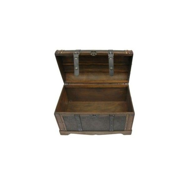 Old World Victorian Decorative Trunk - Coffee Tables at Hayneedle ($130) ❤ liked on Polyvore featuring home, home decor, small item storage, furniture, boxes and trunks