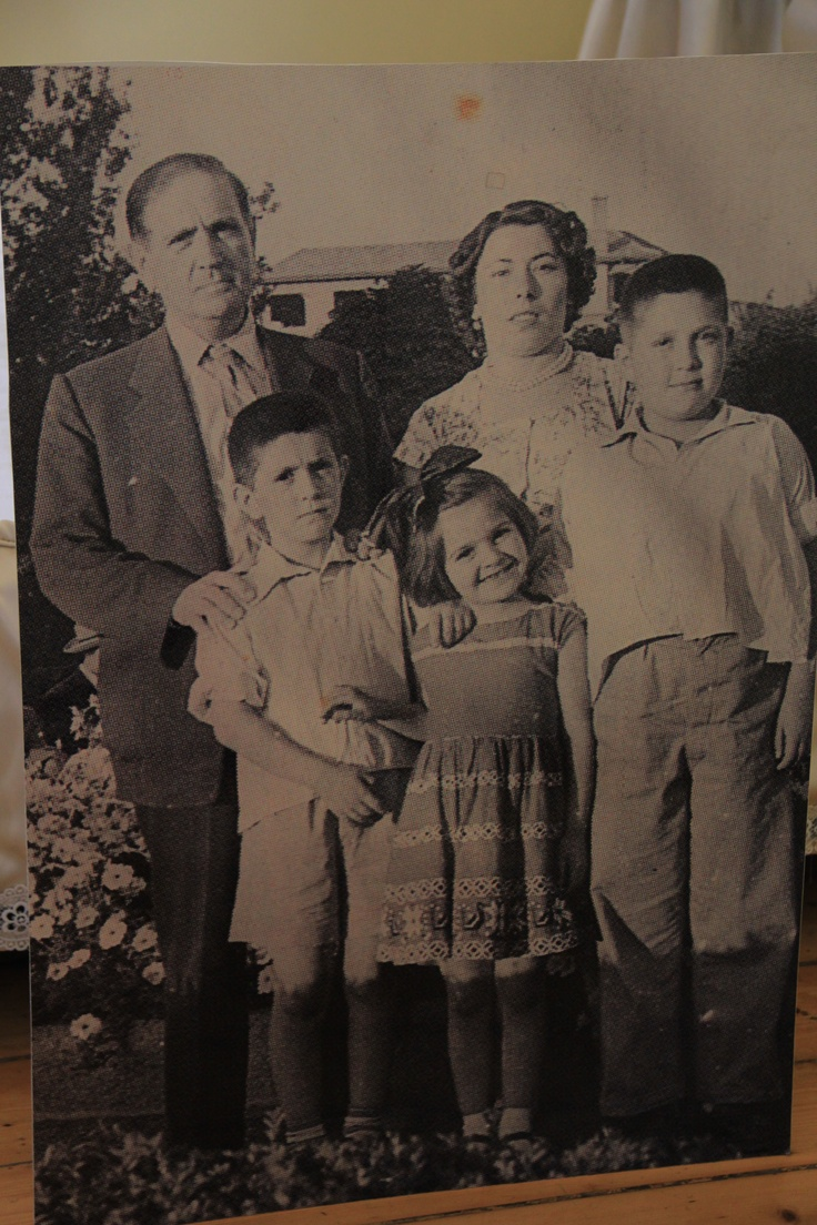 His parents and siblings.