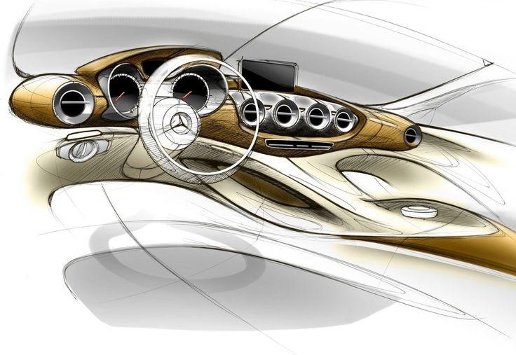 Mercedes-Benz AMG GT 2015 sketches