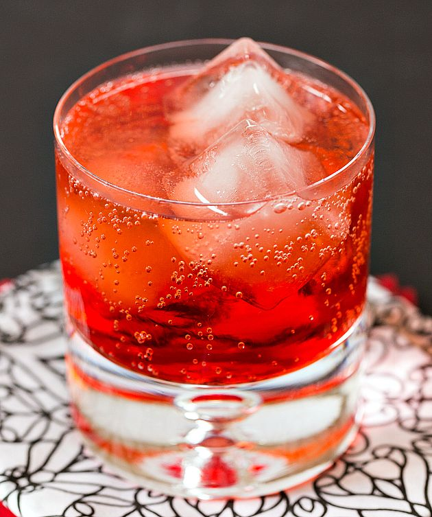 Blood Clot Cocktail recipe - oooh, this is a very sweet drink. A blend of Southern Comfort, lemon-lime soda and grenadine. Click on the photo for the recipe.