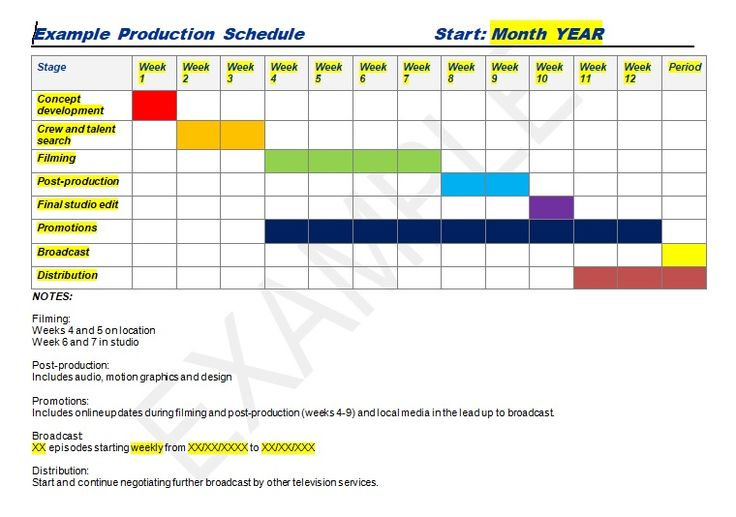 Production schedule template excel \ word Management Templates - production schedule template