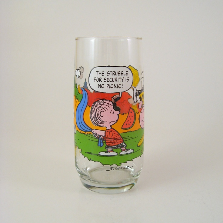 Vintage Camp Snoopy Collection Glass