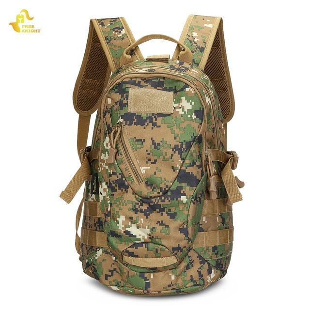Free Knight 20L Nylon Outdoor Bags Digital Jungle Camouflage Hunting Hiking  Camping Military Tactical Backpack Army Bag Review fa5ae41913f0f