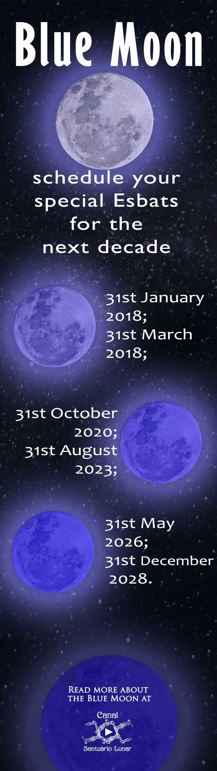 Blue Moon Calendar (Pinterest)