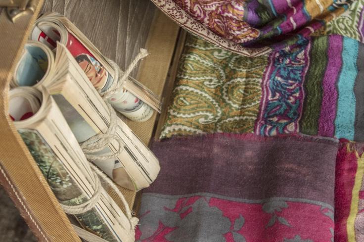#DelCarmen #silk #shawl #magazine  #vinatge
