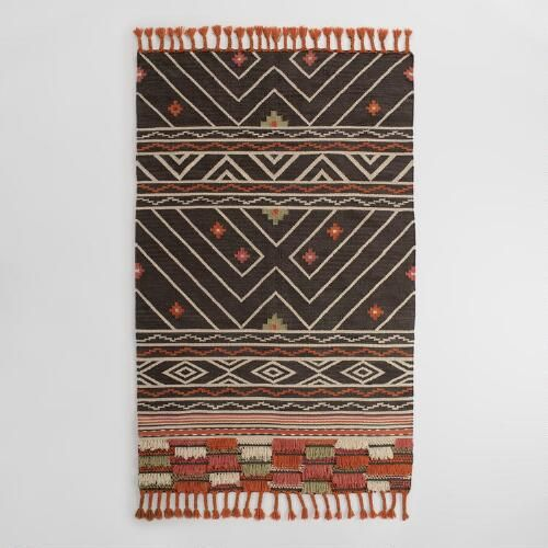 Hand woven in India from recycled plastic bottles, our exclusive area rug is inspired by traditional kilim rugs. A great choice for high traffic areas, this easy care rug is surprisingly soft underfoot and will not shed.