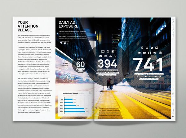 IPG Media Economy Report on the Behance Network: Graphics Design Circles Layout, Ipg Media, Awesome Layout, Prints Design, Economy Reports, Media Economy, Infographic, Behance Network, Brochures Example