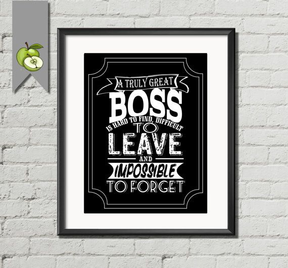 Wedding Gift For Boss: Boss Appreciation Gift, A Truly Great Boss Is Hard To Find
