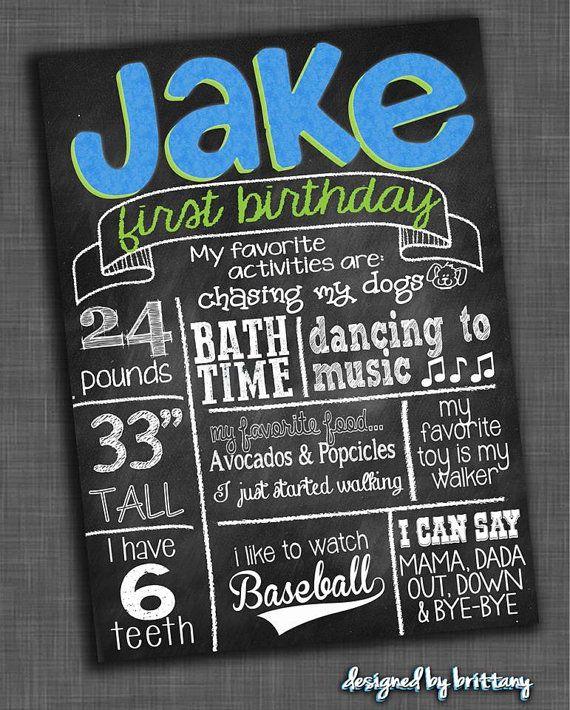 Custom Birthday Boards via Etsy