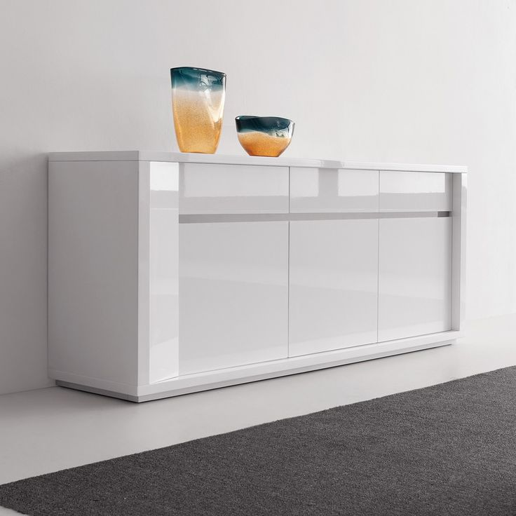 A Sleek And Comtemporary Range With Gorgeous Glossy Lacquered White Finish 1249