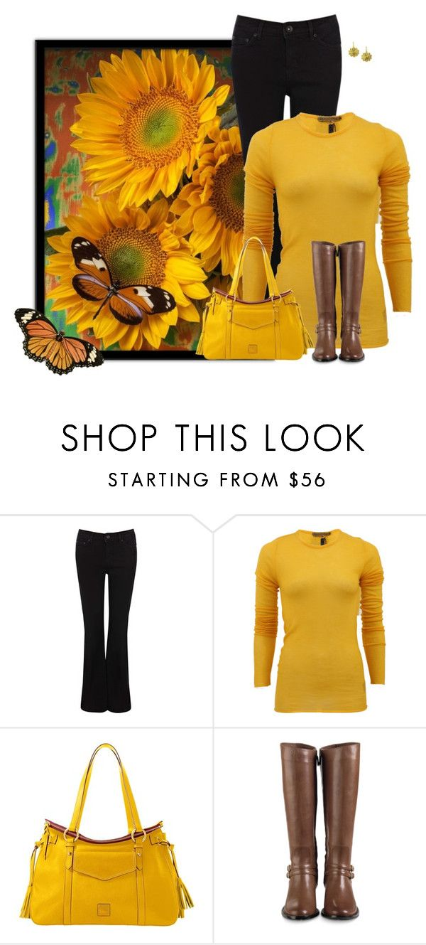 """Sunflowers"" by sherbear1974 ❤ liked on Polyvore featuring Christian Louboutin, Oasis, Jean Colonna, Dooney & Bourke, Cole Haan and Julie Tuton Jewelry"