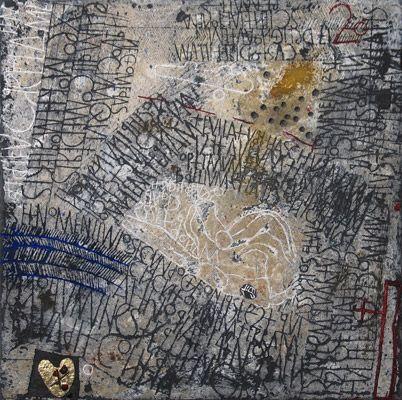 Et Dieu cree la Femme - Gemengde techniek op doek - 50 x 50 cm - 2008