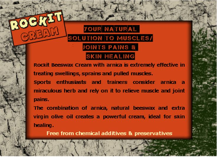 "Did you know that the herb ""arnica"" is your natural solution to muscles/joints pains & skin healing?"