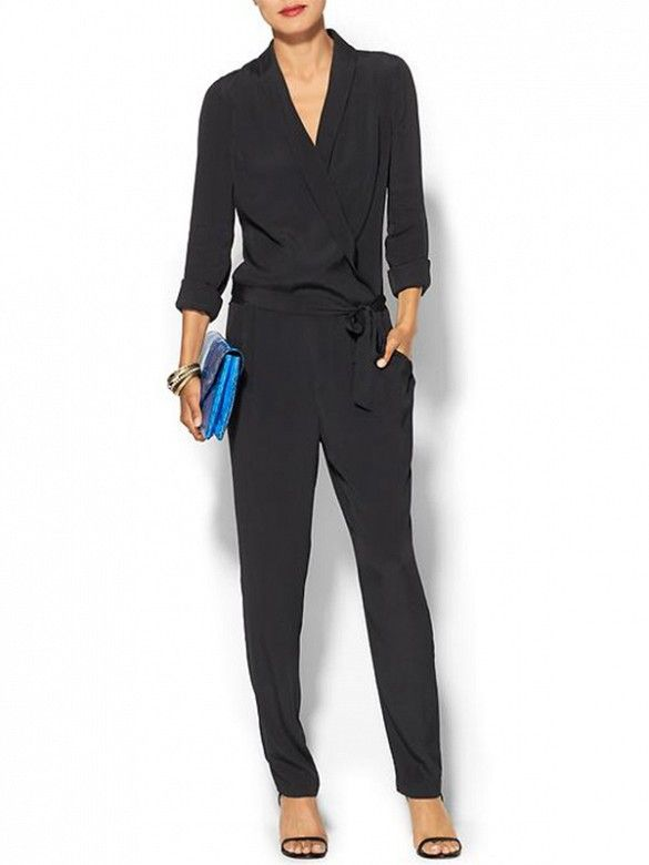 Piperlime Collection Long Sleeve Drapey Romper // #Shopping