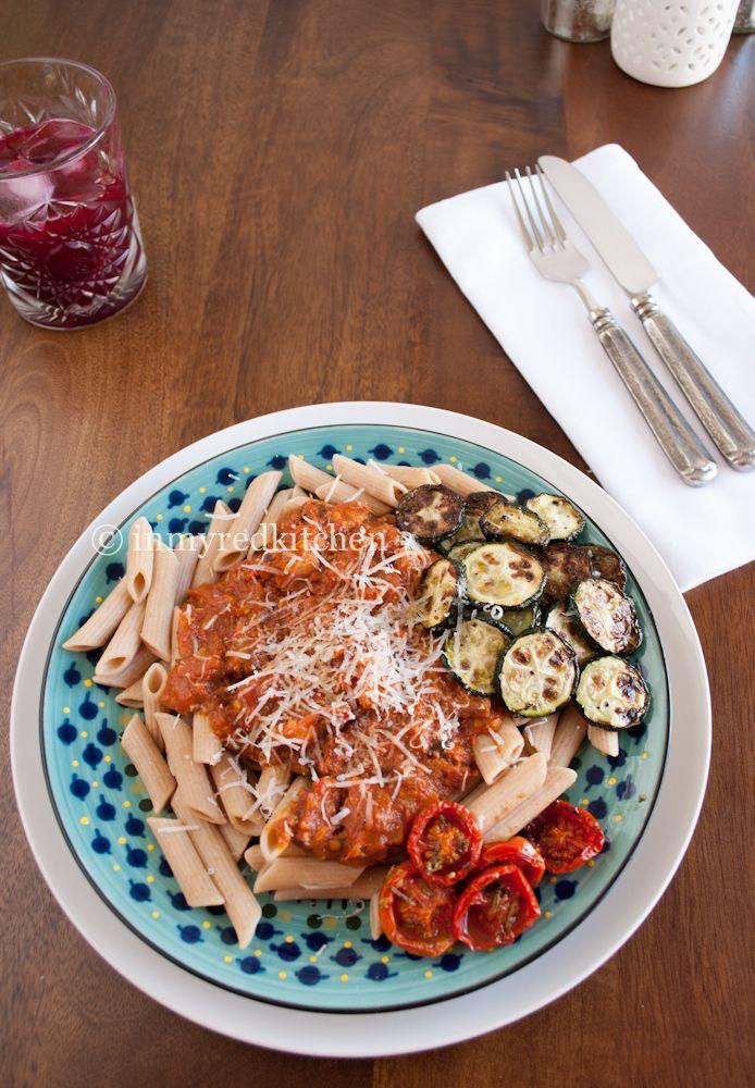 Pastasaus van geroosterde tomaten P