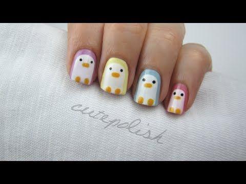 cute nail art pinguins - Google Search