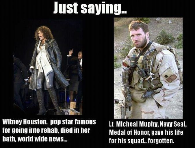 we can acknowledge people who had drug problems but not the people who give you that right to live in a society where that's completely okay?: Whitney Houston, Heroes, Sotrue, So True, Navy Seals, So Sad, True Stories, Forget Him, Military