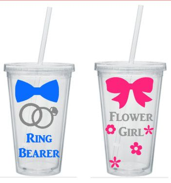 Hey, I found this really awesome Etsy listing at https://www.etsy.com/listing/239253202/ring-bearer-and-flower-girl-tumbler-set