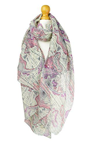 406 best scarves belles fashion uk images on pinterest belle world map globe pink print scarf scarves wrap shawl cover up gumiabroncs Choice Image