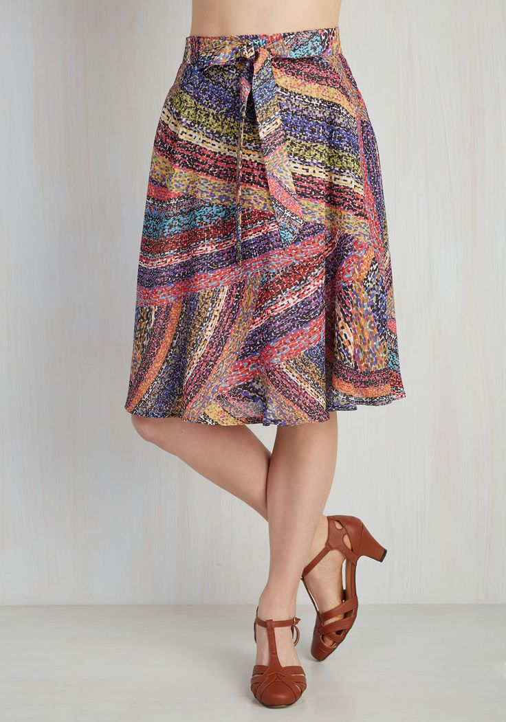Would love to try! Paint the Way Skirt. Forge a fashionable course thats uniquely you with the help of this swingy A-line skirt! #multi #modcloth