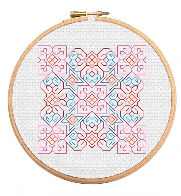Our latest Blackwork Twisted Hearts cross stitch pattern is perfect for beginners. https://stitchme.gifts/product/twisted-hearts-blackwork-cross-stitch-pattern/