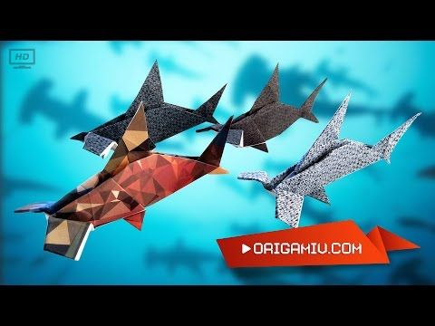 Hammerhead shark - origami fish hammer