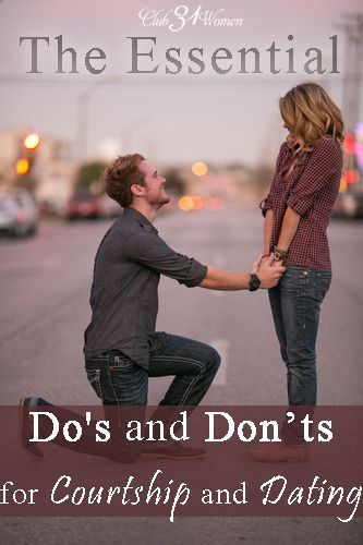 How do you find the person you will someday marry? What is the right way to approach dating? What about courtship? Here is a solid list of The Essential Do's and Don't for Courtship and Dating.