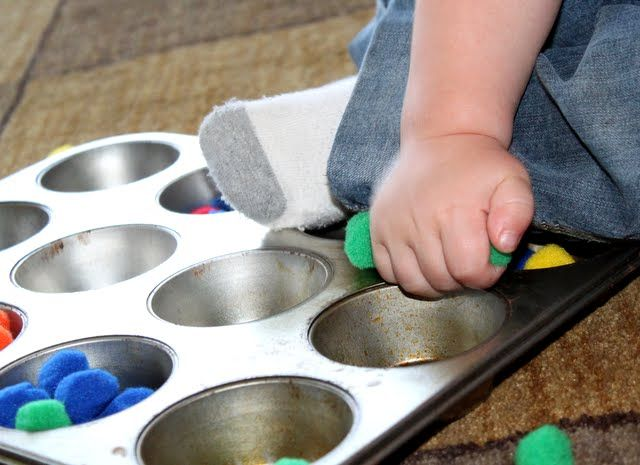 pom poms fine motor activity for toddlers