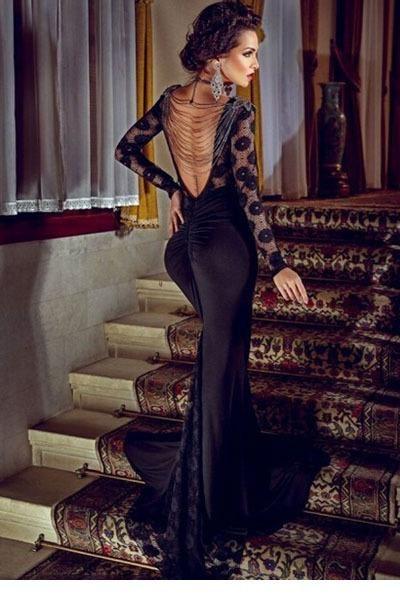 Robe de soiree elegante convenzionale lungo abiti da sera delle donne di estate vestiti lunghi 2015 nero del partito di sera lungo abito di pizzo LC60101(China (Mainland))