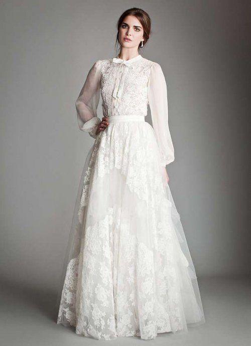 Свадебное платье с рукавами своими руками