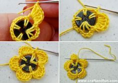 Creative Recycling - Craft and Fun: Creative Recycling Buttons - Decorate with Crochet