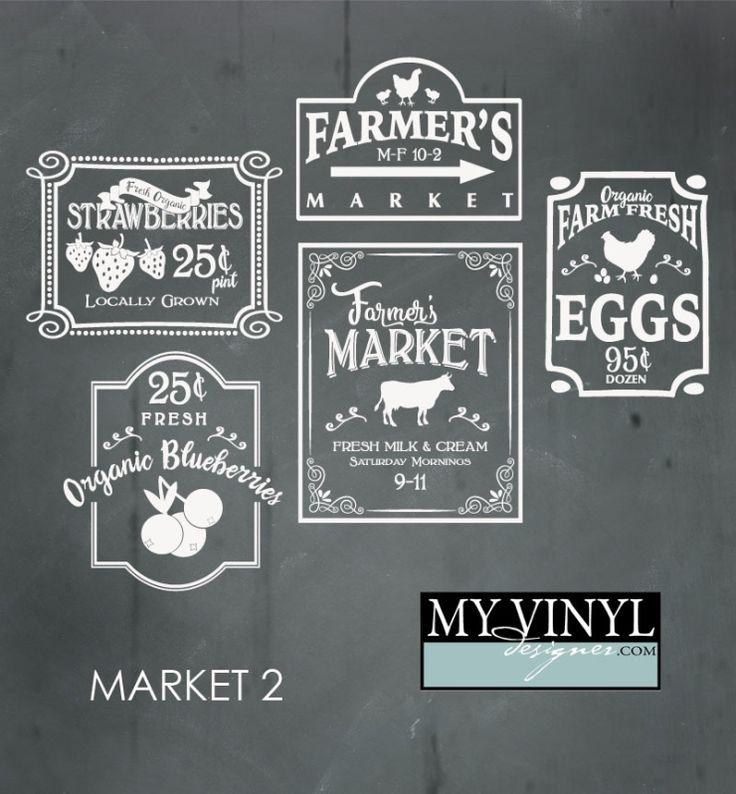 Digital Download Farmer S Market Vectors In Ai Eps