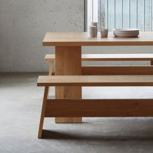 David Chipperfield creates simple  furniture from wooden planks
