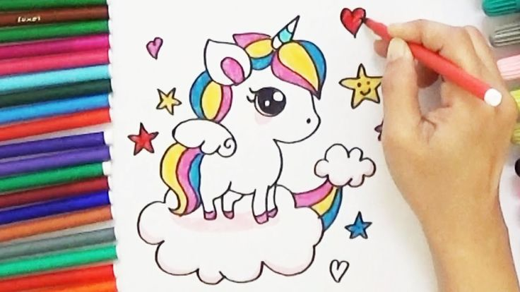 how to draw the unicorn emoji