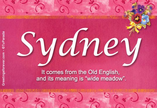 sydney name meaning - photo#3