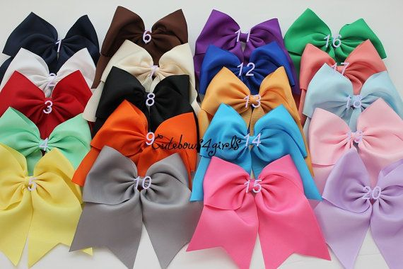 10+black+cheer+bow++gray+cheer+bow++maroon+cheer+by+cutebows4girls,+$37.50