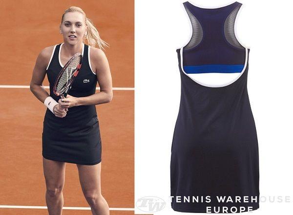 Elena Vesnina's new #Lacoste dress for the 2016 French Open #rg16