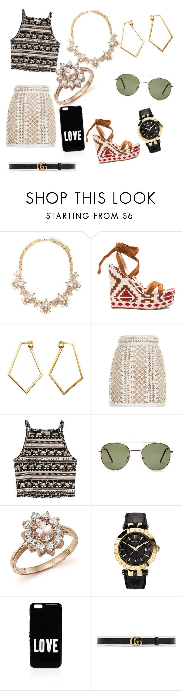 """Black And Gold : High school freshmen first party ( part 2)"" by zebragirl1449 ❤ liked on Polyvore featuring Forever 21, Gianvito Rossi, Dutch Basics, Balmain, H&M, Bloomingdale's, Versace, Givenchy and Gucci"