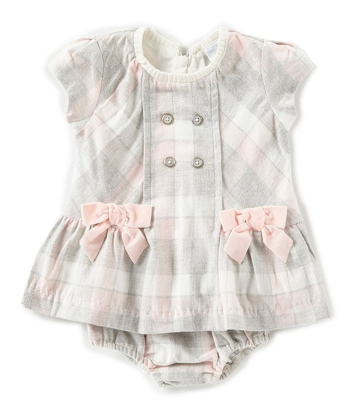 Edgehill Collection Baby Girls Newborn 24 Months Plaid