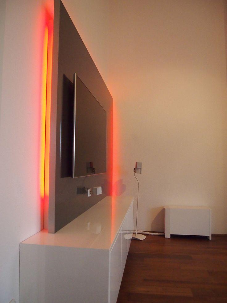Tv wand selber bauen rigips  Die besten 25+ Tv wand mit led beleuchtung Ideen auf Pinterest ...