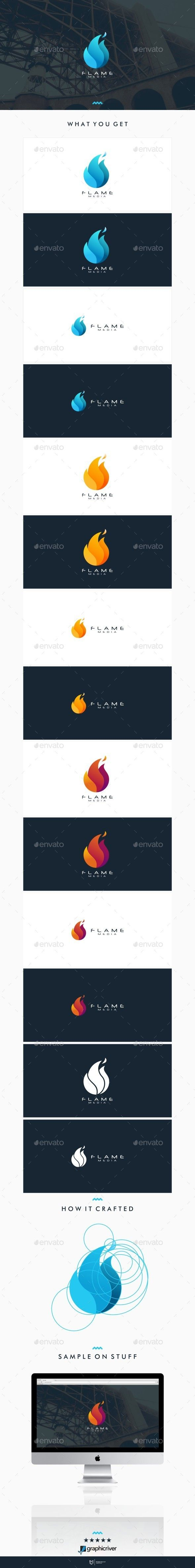 Flame Media Logo Template Vector EPS, AI. Download here: http://graphicriver.net/item/flame-media-logo/12959547?ref=ksioks