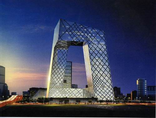 Milliken installed 40,000 square meters of Global Express Three in the CCTV headquarters building - located in Beijing - earlier this month.   The main building is not a traditional tower, but a loop of six horizontal and vertical sections covering 473,000 m2 of floor space and creating an irregular grid on the building's facade with an open center.: Building, Modern Art, Urban Design, Towers, Beijing China, Modern Architecture, Design Books, Rem Koolhaas, Central Televi