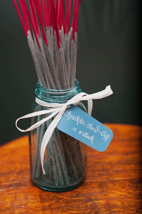 Sparkler Send-Off: Cute and simple presentation