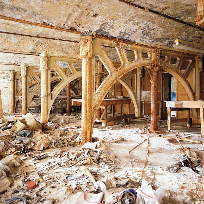 Dan Dubowitz:  Iron Arches, Royal Mills, Ancoats-Ed. Of 10 archival pigment print on rag paper 30 x 30 in.