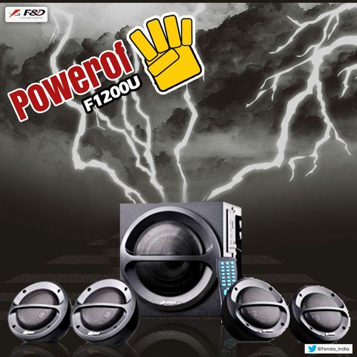 Get hooked to superior Music & Movie experience LIKE NEVER BEFORE #Powerof4 #F1200U Speaker