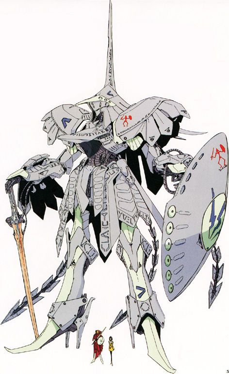 Bang Doll, a Mortar Headd from Five Star Stories by Nagano Mamoru. This series has my favorite outrageously impractical and indulgent mechanical designs.