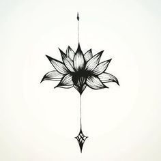 Lotus flower, a perfect tattoo for the back of the neck